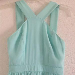 Lulu's Mint Green Maxi Halter Dress (XS)